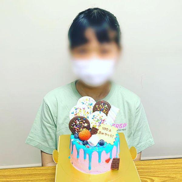 ht360139中学生の100点ケーキ