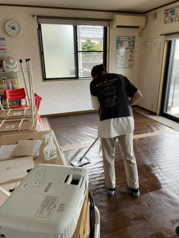 教室のプチ大掃除